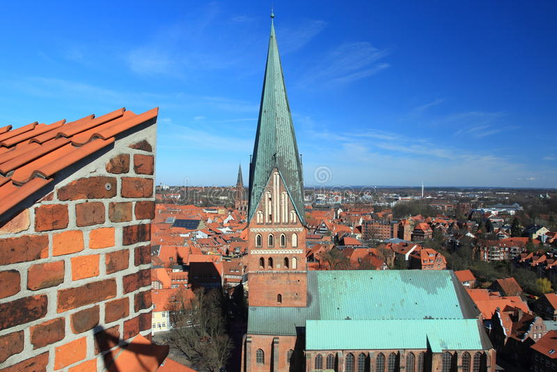 圣尼古拉教会在Lunenburg 图库摄影