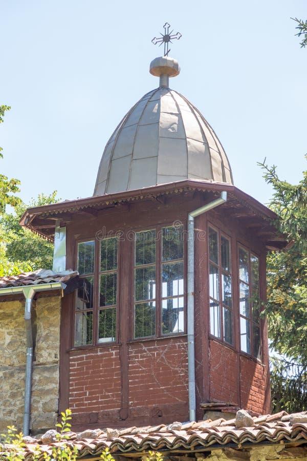 圣尼古拉斯修道院的钟楼  免版税库存照片