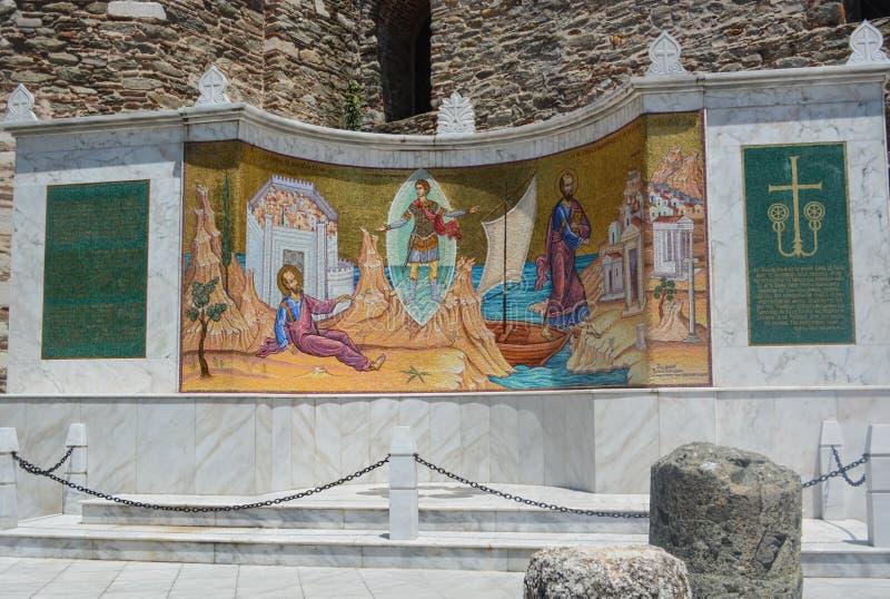 圣尼古拉斯基督教会在卡瓦拉,希腊 免版税图库摄影
