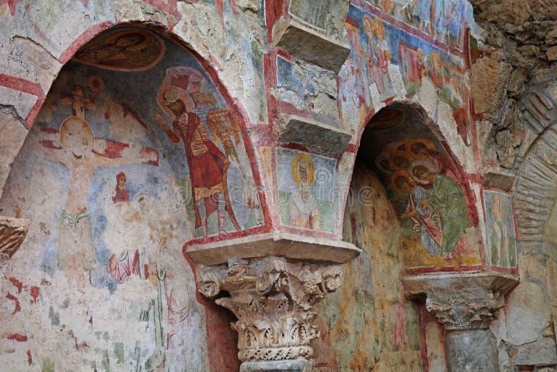 圣尼古拉斯壁画教会  免版税库存照片