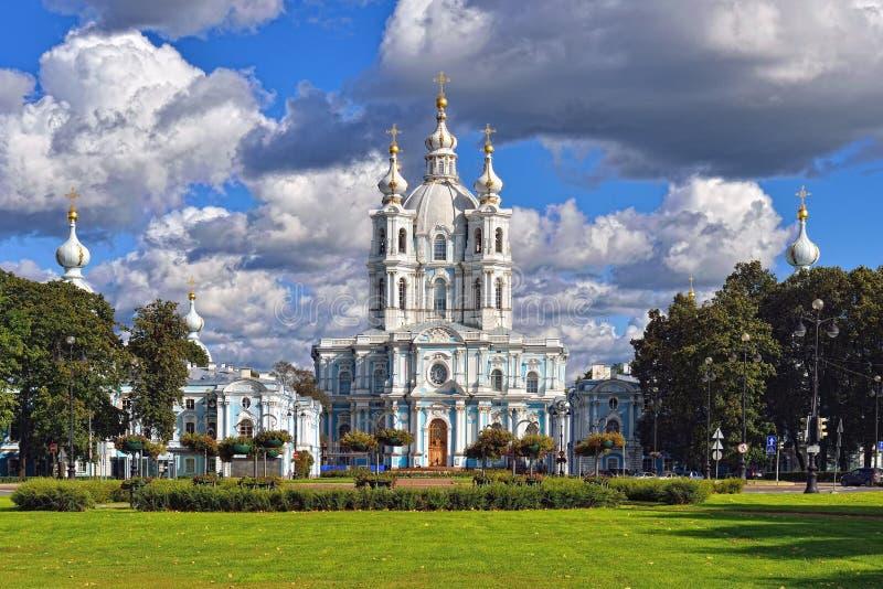 圣尼古拉斯大教堂在圣彼德堡,俄罗斯。 库存照片