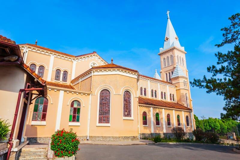 圣尼古拉斯大教堂在大叻 免版税库存照片
