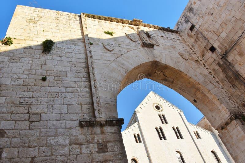 圣尼古拉斯大教堂在巴里 库存照片