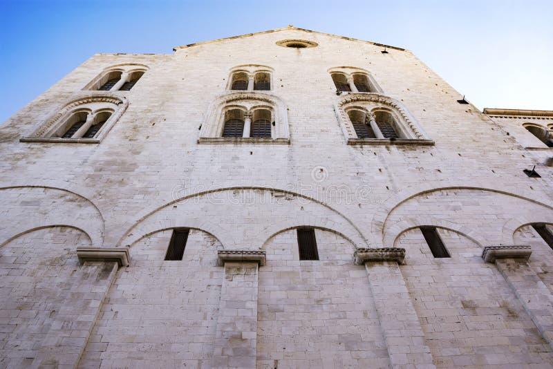 圣尼古拉斯大教堂在巴里 免版税库存图片