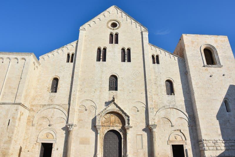 圣尼古拉斯大教堂在巴里 免版税库存照片