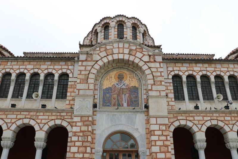 圣尼古拉斯大教堂在沃洛斯 图库摄影