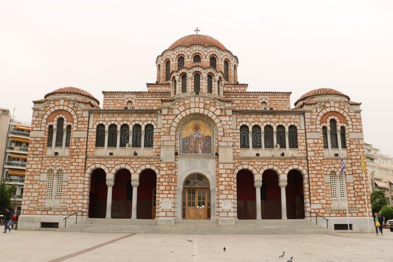圣尼古拉斯大教堂在沃洛斯 库存图片