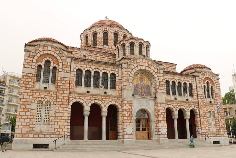 圣尼古拉斯大教堂在沃洛斯 库存照片