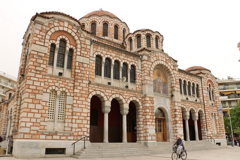 圣尼古拉斯大教堂在沃洛斯 免版税图库摄影