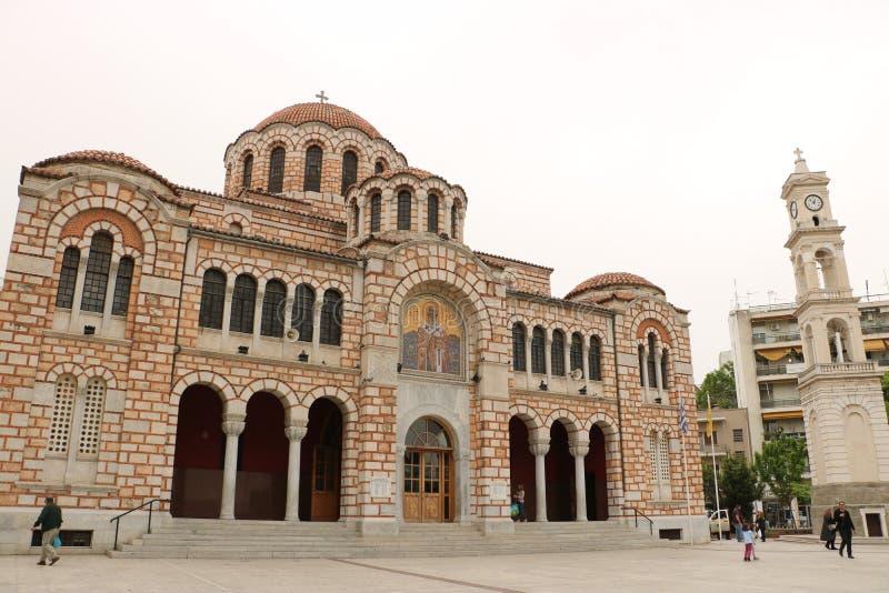 圣尼古拉斯大教堂在沃洛斯 免版税库存照片