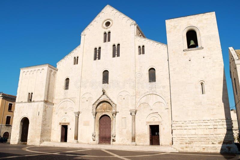 圣尼古拉斯大教堂在巴里,意大利 免版税库存图片
