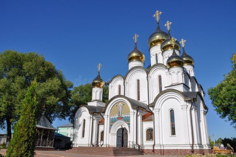 圣尼古拉斯大教堂在Pereslavl Zalessky 圣尼古拉斯女修道院 俄国 免版税库存照片