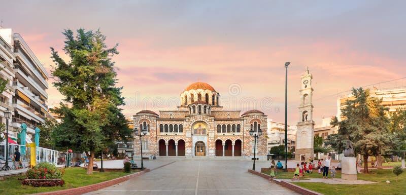 圣尼古拉斯大教堂教会在沃洛斯,希腊 免版税库存图片