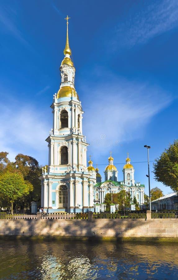 圣尼古拉斯大教堂,圣彼得堡,俄罗斯 库存照片