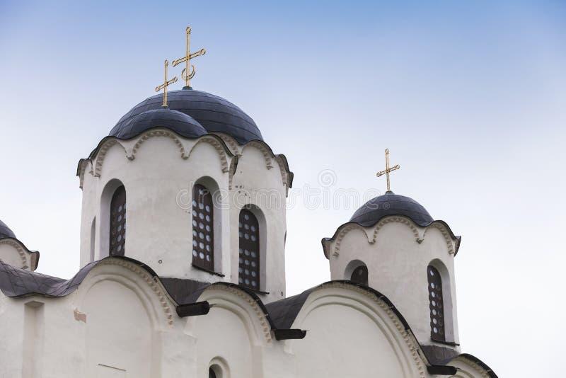 圣尼古拉斯大教堂,诺夫哥罗德圆顶  免版税库存照片