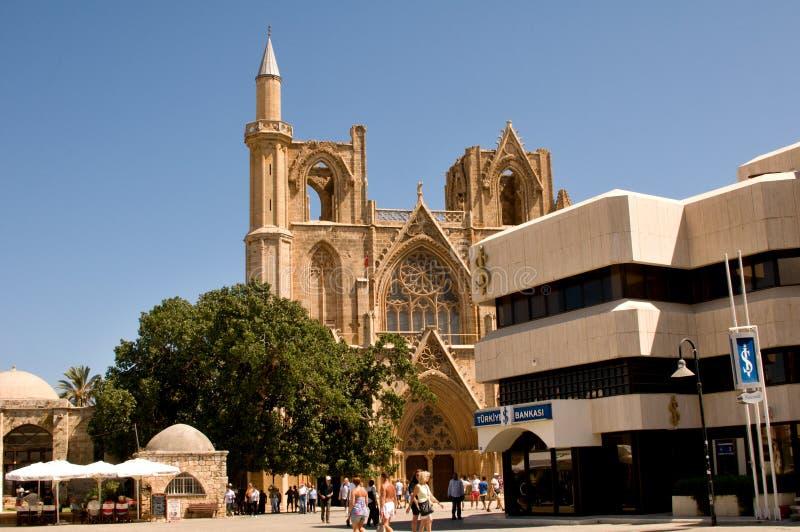 圣尼古拉斯大教堂-法马古斯塔镇 免版税库存图片