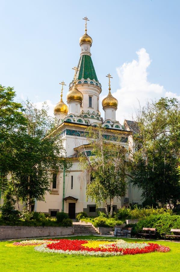 圣尼古拉斯奇迹制造者教会门面建筑学 圣尼古拉斯俄国教会根据设计被修建了 库存图片