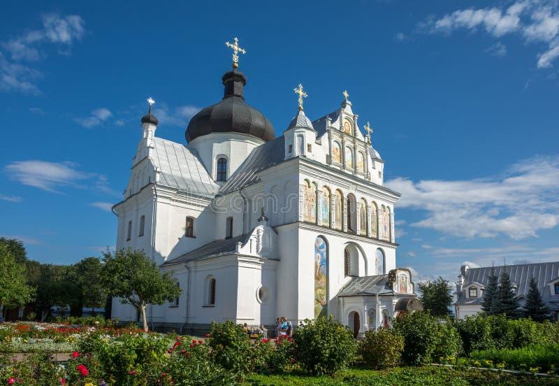 圣尼古拉斯女修道院在莫吉廖夫 迟来的 库存照片