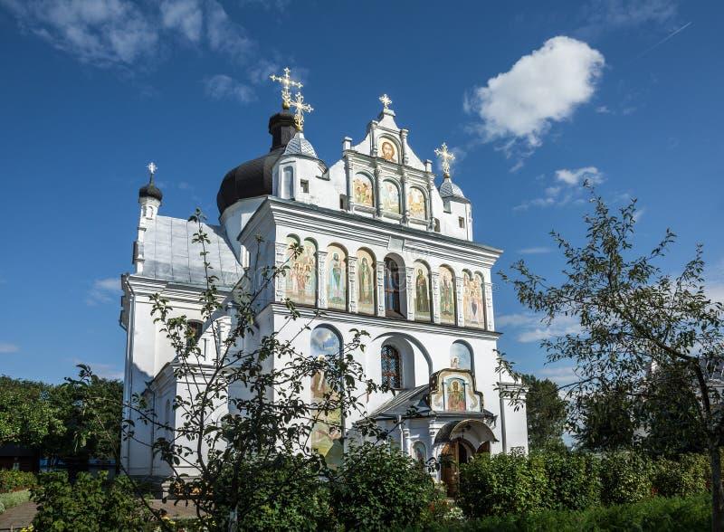 圣尼古拉斯女修道院在莫吉廖夫 迟来的 免版税库存照片