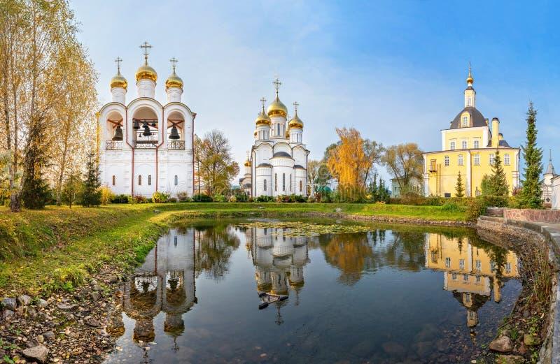 圣尼古拉斯女修道院Pereslavsky在Pereslavl-Zalessky,俄罗斯 免版税库存图片