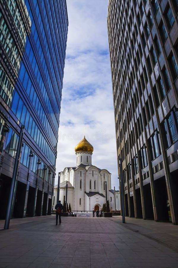 圣尼古拉斯寺庙在莫斯科,俄罗斯 库存照片