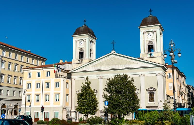 圣尼古拉斯希腊东正教在的里雅斯特,意大利 免版税图库摄影