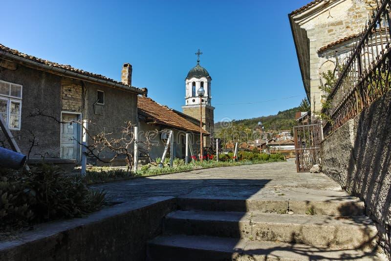 圣尼古拉斯教会在市大特尔诺沃,保加利亚 库存照片