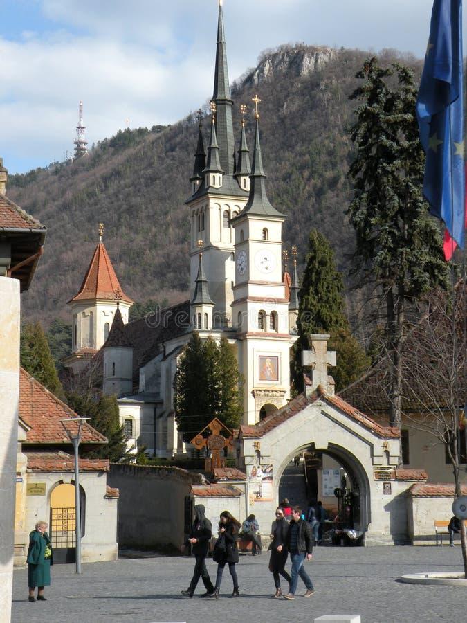 圣尼古拉斯教会在布拉索夫Schei区 免版税库存图片