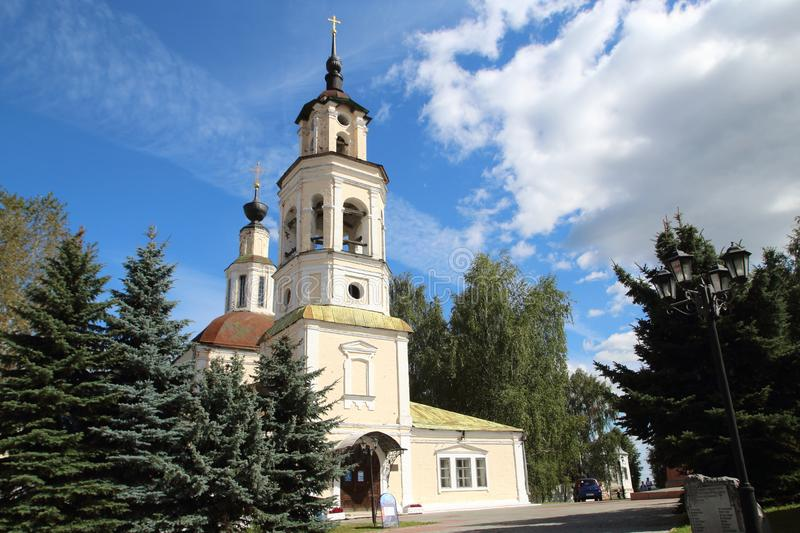 圣尼古拉斯教会在弗拉基米尔市,俄罗斯 库存照片