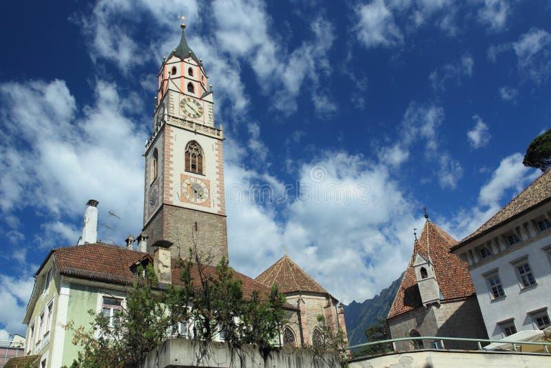 圣尼古拉斯教会在梅拉诺 库存照片