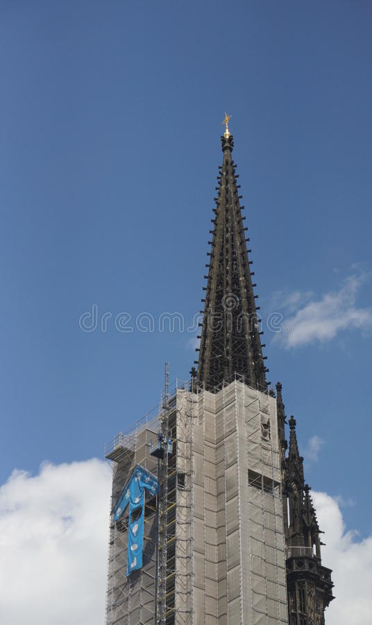 圣尼古拉斯教会在汉堡-德国-欧罗巴 库存图片