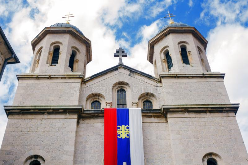 圣尼古拉斯教会在老镇科托尔 库存照片