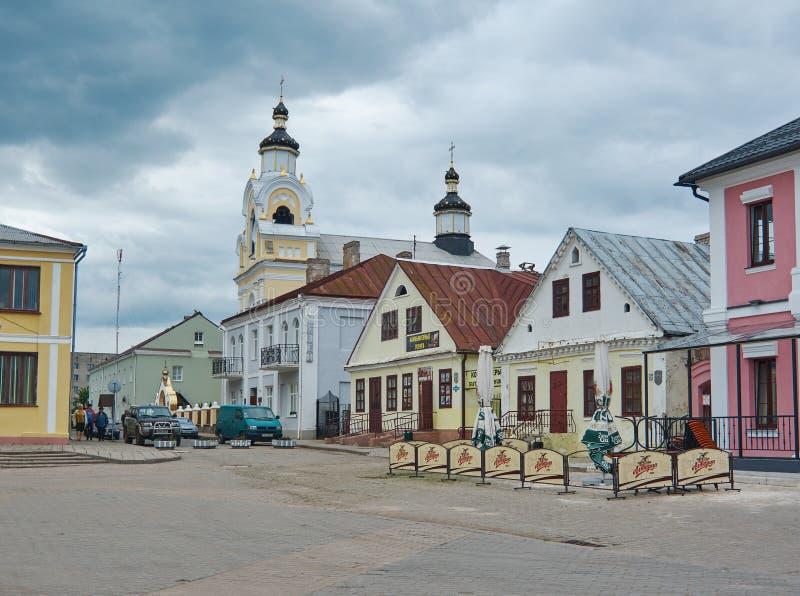 圣尼古拉斯教会在Novogrudok,白俄罗斯 库存照片