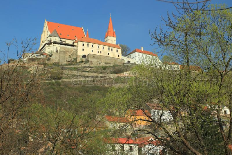 圣尼古拉斯教会在Znojmo 库存照片