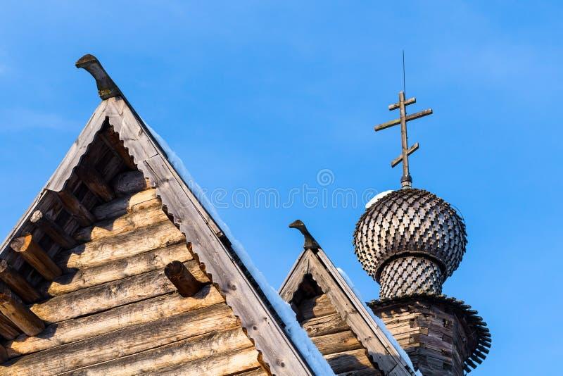 圣尼古拉斯教会屋顶在苏兹达尔克里姆林宫 免版税库存图片