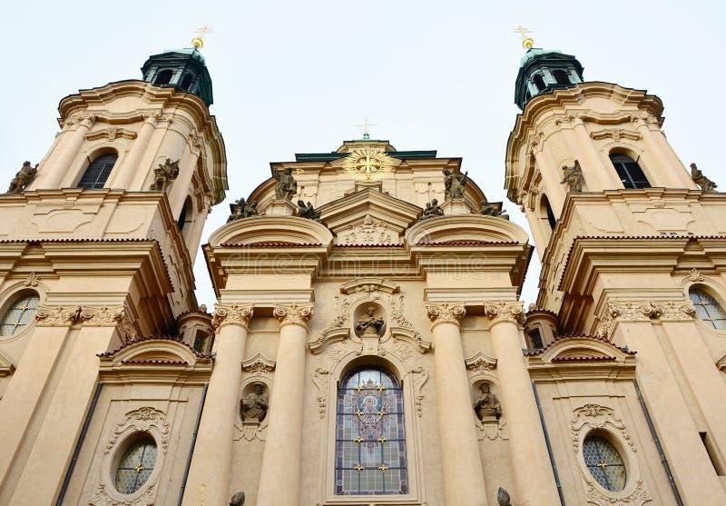 圣尼古拉斯教会布拉格 免版税图库摄影