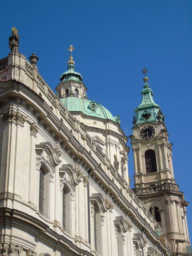 圣尼古拉斯教会布拉格 免版税库存图片