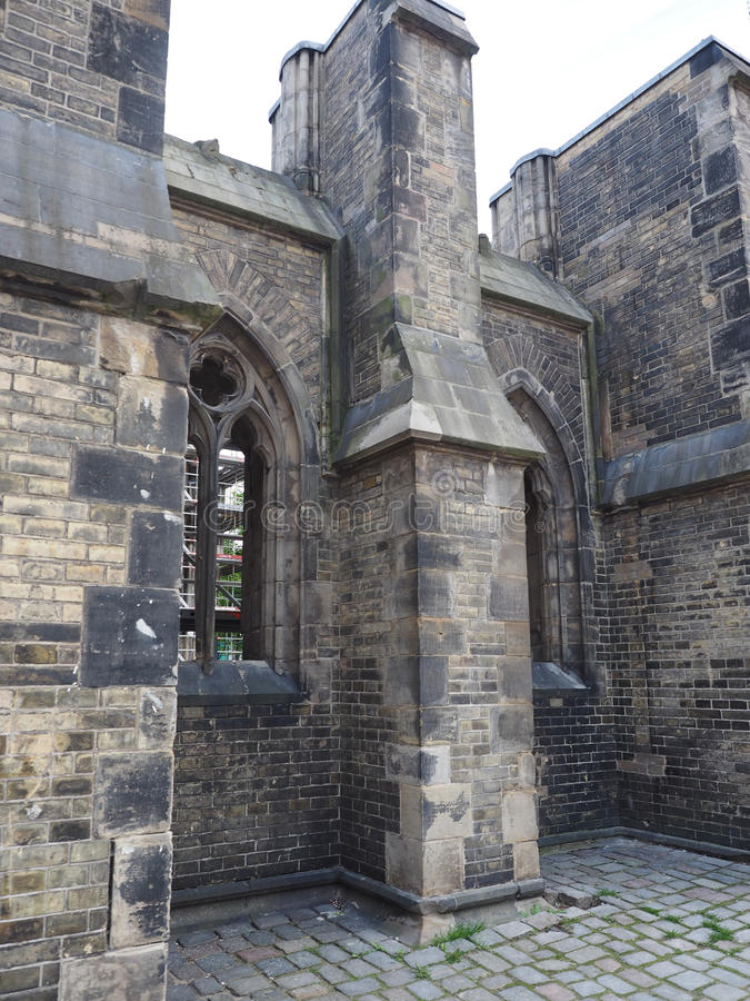 圣尼古拉斯教会废墟在汉堡 库存图片