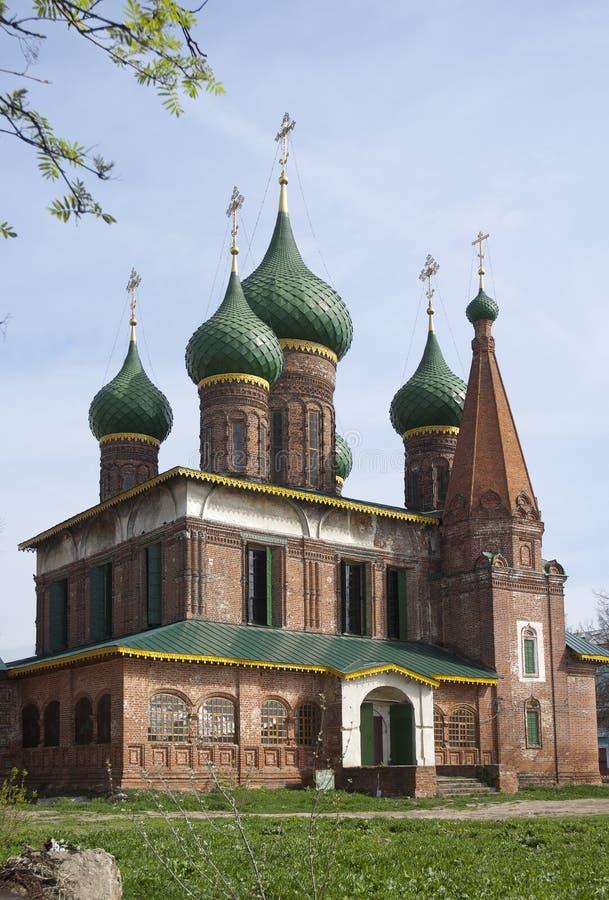 圣尼古拉斯教会湿在Yaroslavl,俄国 免版税图库摄影