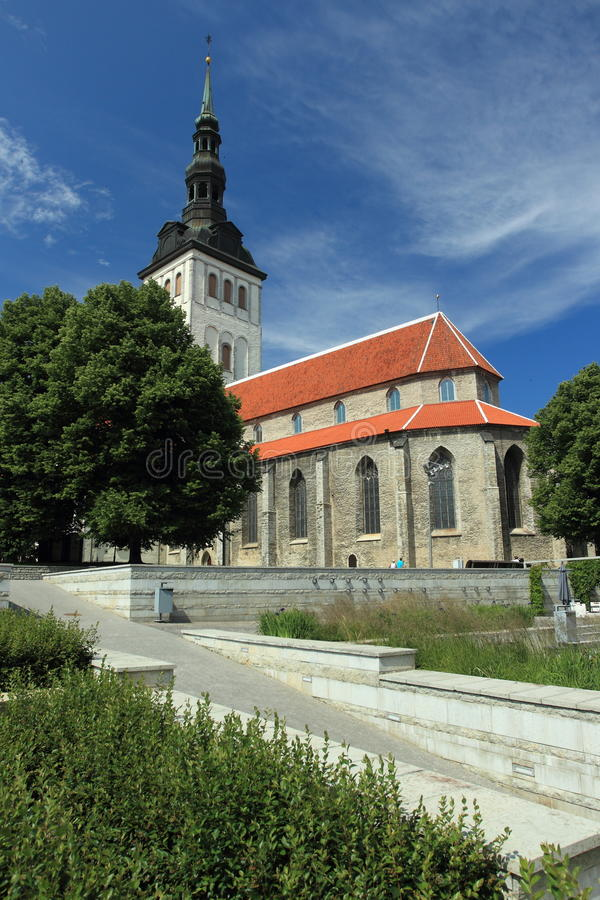 圣尼古拉斯教会,塔林 免版税图库摄影