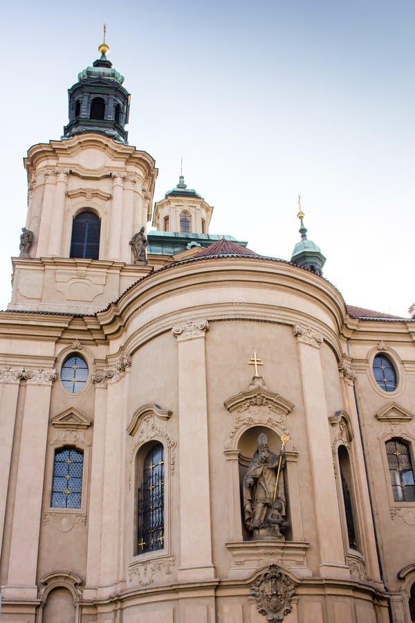 圣尼古拉斯教会,布拉格-细节 免版税图库摄影