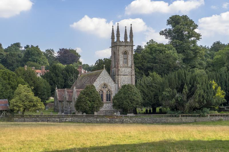 圣尼古拉斯教会, Chawton 库存照片