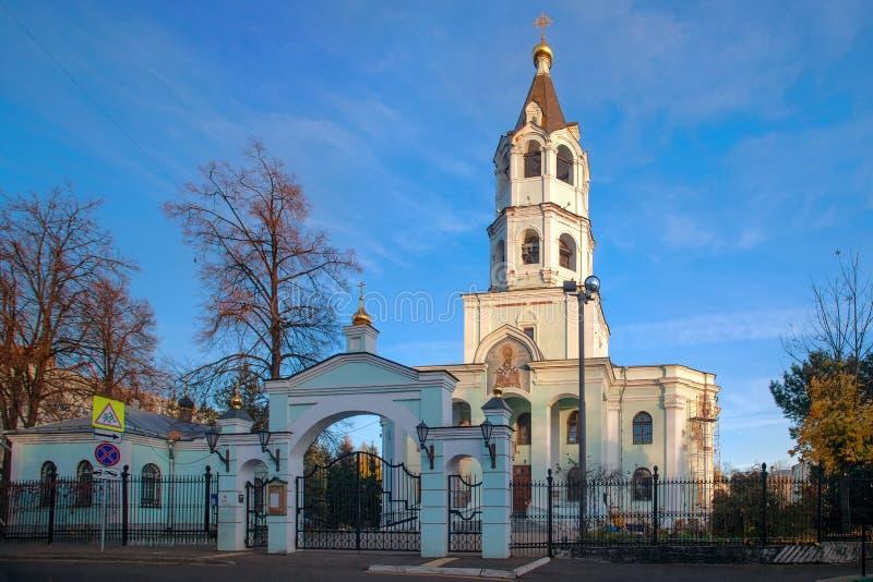 圣尼古拉斯教会Wonderworker 莫斯科 免版税图库摄影