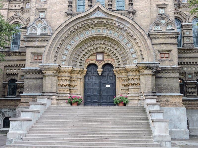圣尼古拉斯正统海运大教堂,拉脱维亚 图库摄影