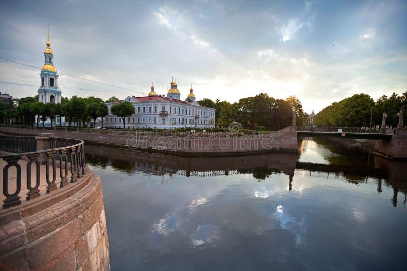 圣尼古拉斯海军大教堂在圣彼德堡 库存照片