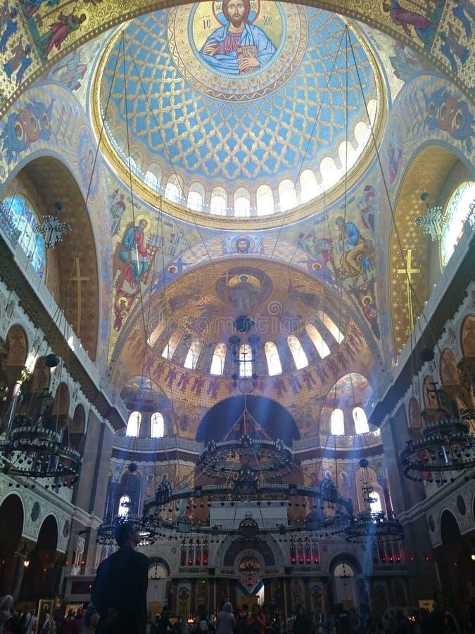 圣尼古拉斯海军大教堂的内部在喀琅施塔得,圣彼德堡,俄罗斯 库存照片