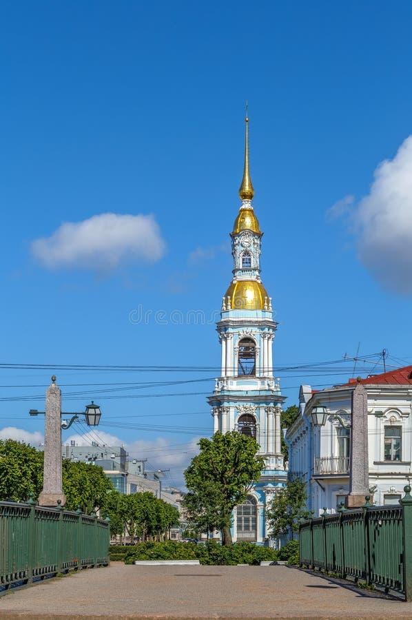圣尼古拉斯海军大教堂,圣彼得堡,俄罗斯 免版税库存图片