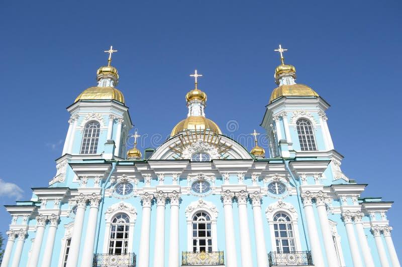圣尼古拉斯海军大教堂,圣彼得堡 库存照片