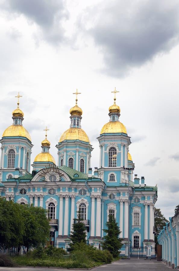 圣尼古拉斯海军大教堂 圣彼德堡 俄国 免版税库存图片