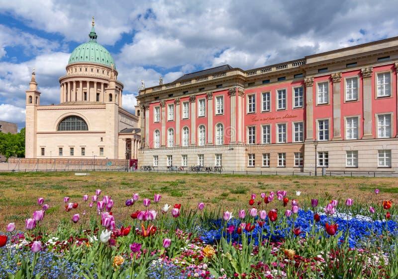 圣尼古拉斯的教会和布兰登堡议会Landag,波茨坦,德国 库存图片